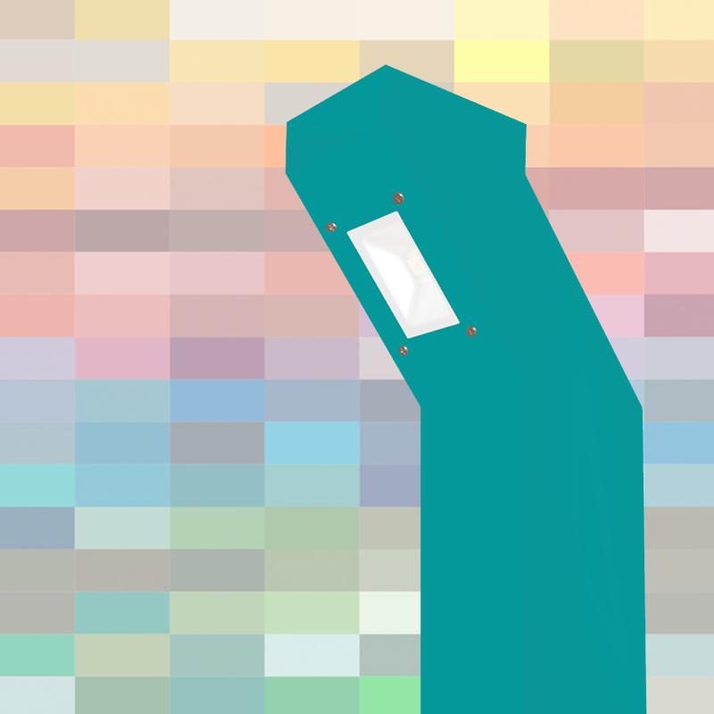 Die MOVET Wegeleuchte vor RAL Farben Hintergrund