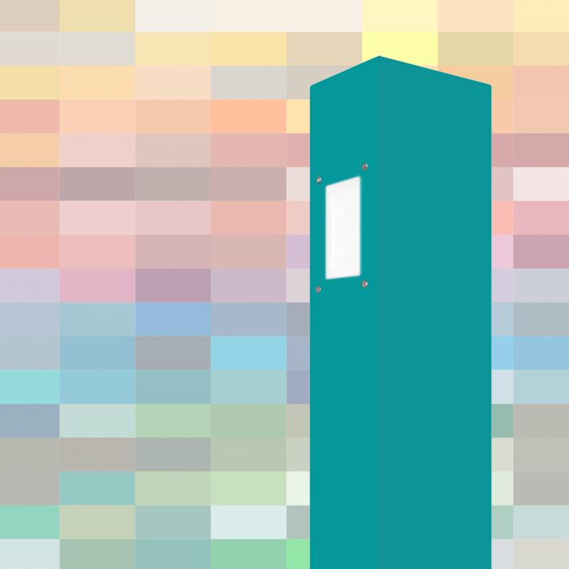 Die SIMPLEX Außenbeleuchtung vor RAL Farben Hintergrund