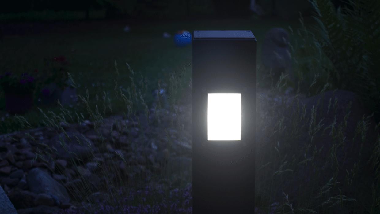 Slider der MAGNELLO Leuchtenmanufaktur mit der SIMPLEX Außenbeleuchtung in anthrazit