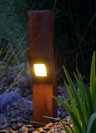 Die AUDAX Außenbeleuchtung im Rost Design